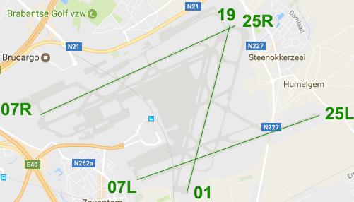 startbanen landingsbanen zaventem airport